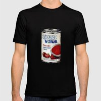 Great Value Tomato Soup Mens Fitted Tee Black SMALL