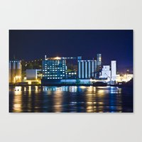 Alton, Illinois Mississippi River Factory Canvas Print