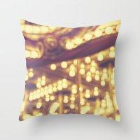 Fuzzy Carousel Throw Pillow