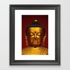 Golden Buddha - serenity - Asian Art Museum San Francisco Framed Art Print