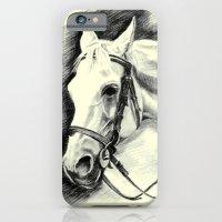 iPhone & iPod Case featuring Horse-portrait by Vargamari