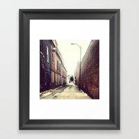 Diagonal Alley Framed Art Print