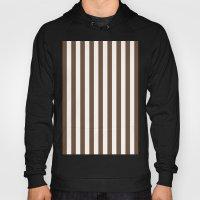 Vertical Stripes (Coffee/White) Hoody