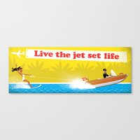 Live The Jet Set Life! Canvas Print