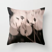 Seeds Bokeh Throw Pillow