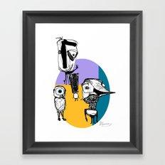 Monsters´s Familiy Framed Art Print