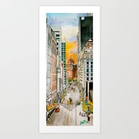 San Francisco at Dusk Art Print