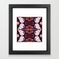 Agate Red in the Face. Framed Art Print