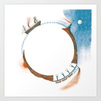 Journey To The Center Of… Art Print