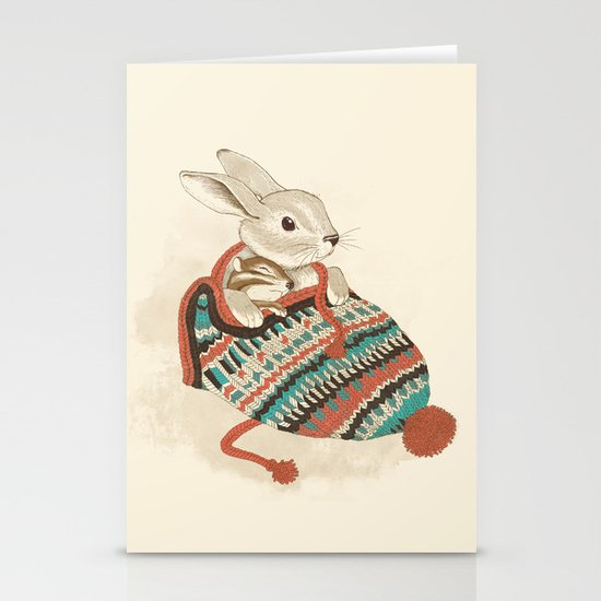 cozy chipmunk Stationery Card
