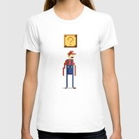pixel T-shirts featuring Pixel Plumber by Michael B. Myers Jr.