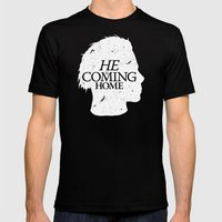 Halloween Is Coming Mens Fitted Tee Black SMALL