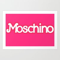 Moschino Barbie Art Print
