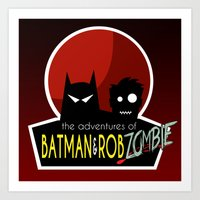 The Adventures of Bat man and Rob Zombie Art Print