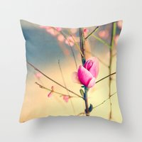 Textured Bloom Throw Pillow