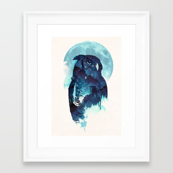 Midnight Owl Framed Art Print