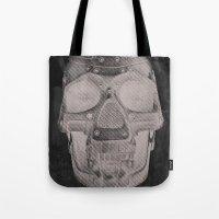 RoboSkull Tote Bag