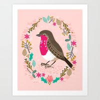 European Robin By Andrea… Art Print