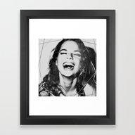 LaUghinG GIrL Framed Art Print