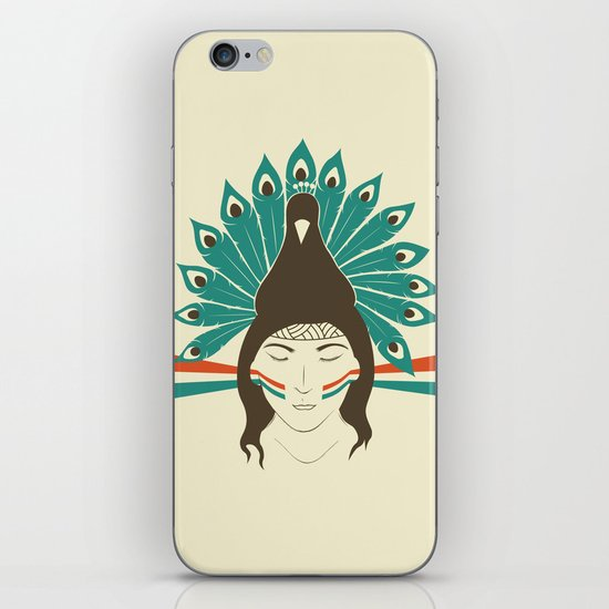 The princess and the peacock iPhone & iPod Skin