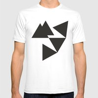 TRIANGALISM Mens Fitted Tee White SMALL
