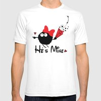 He's Mine Mens Fitted Tee White SMALL