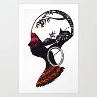 African Portrait Art Print