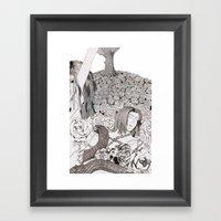 Camelia Field Framed Art Print