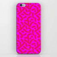 Hot Pink Cheese Doodles /// www.pencilmeinstationery.com iPhone & iPod Skin