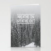 Breathe In - Breathe Out Stationery Cards