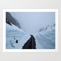 The winter pass Art Print