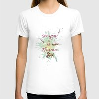 See You In Narnia Womens Fitted Tee White SMALL