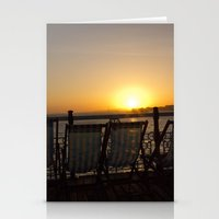 Sunset from Brighton Pier Stationery Cards