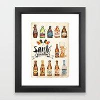 Belgium Beers Framed Art Print