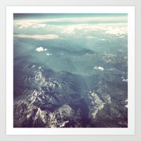 Aerial View Of The Frenc… Art Print