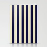 Navy Stripes Stationery Cards
