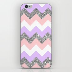 purple & coral chevron iPhone & iPod Skin