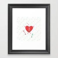 Keys Of Heart Framed Art Print