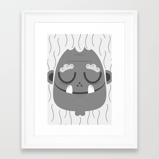 Sleeping Jeti Framed Art Print