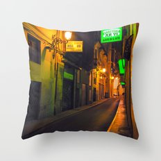 Nocturnal Alley - Valencia - Spain  Throw Pillow