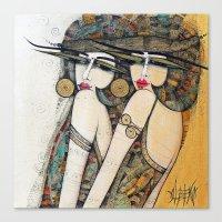 LES DEMOISELLES Canvas Print