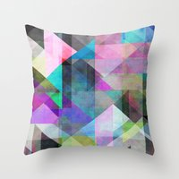 Color Blocking 3 Throw Pillow