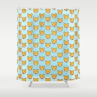 CORGI CORGI CORGI EVERYWHERE Shower Curtain