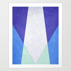 Abstract Purple Blue & Green Art Print