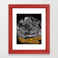 I Heart Zombies Framed Art Print