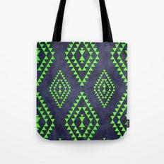 Navy & Lime tribal inspired print Tote Bag