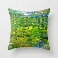 Landscape Of My Heart (4… Throw Pillow