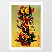 Queen Skullbash Art Print