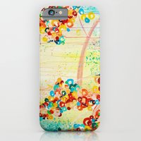 SUMMER IN BLOOM - Beautiful Abstract Acrylic Painting Vibrant Rainbow Floral Nature Theme  iPhone 6 Slim Case