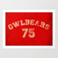 Go Owlbears! Art Print